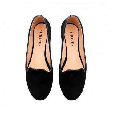 Baletas loafer negras crife